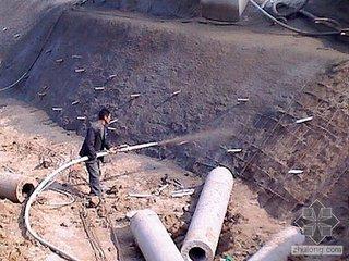 建筑基坑支护锚喷施工